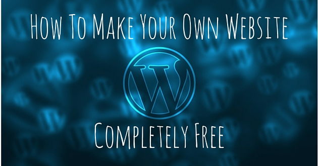 how to make your own website completely free  video